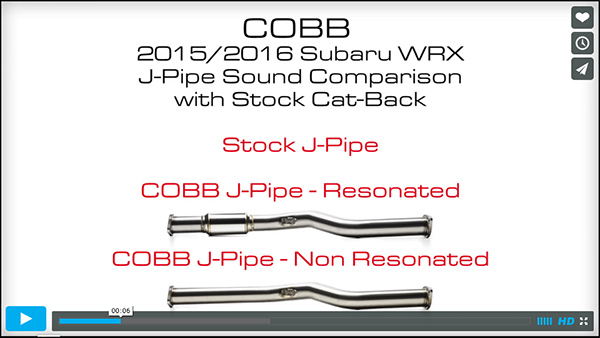 COBB J-Pipe Sound Check Video