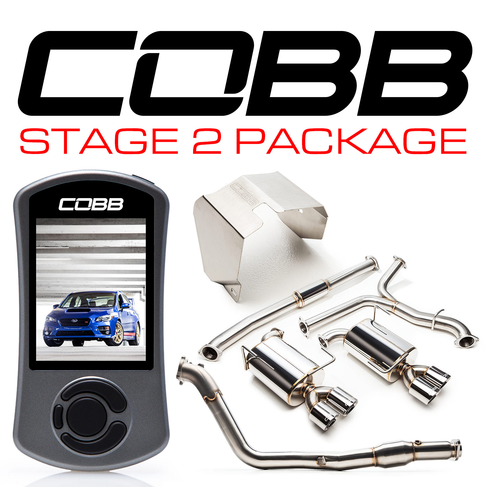 cobb tuning subaru stage 2 power package sti 2015 2018. Black Bedroom Furniture Sets. Home Design Ideas