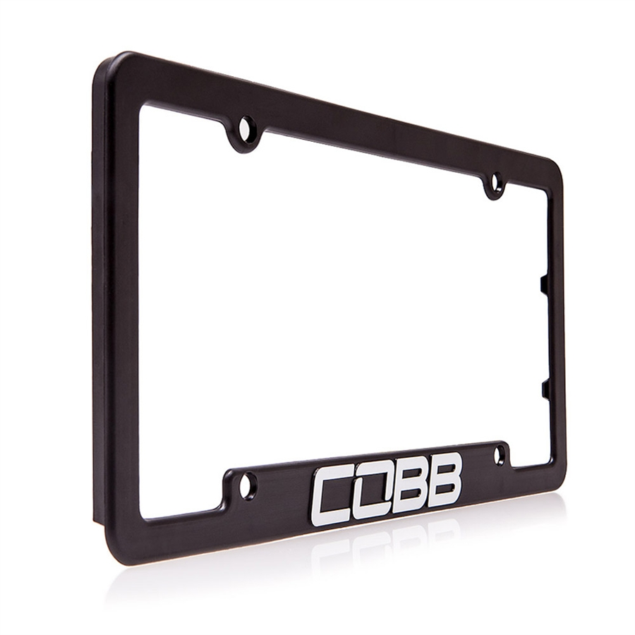 New COBB Black License Plate Frame