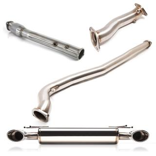 Mitsubishi Evo X Turboback Exhaust w/ Oval Tip Cat-back