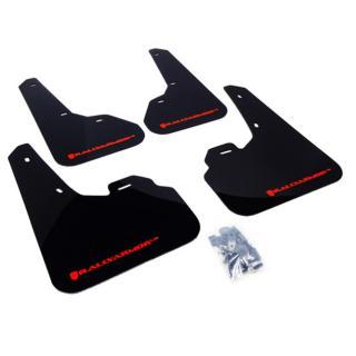 Rally Armor UR Mudflaps Black Urethane Red Logo Mazdaspeed3 2010-2013