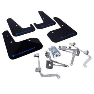 Rally Armor UR Mudflaps Black Urethane Blue Logo Subaru STI Sedan 2011-2014, WRX Sedan 2011-2014