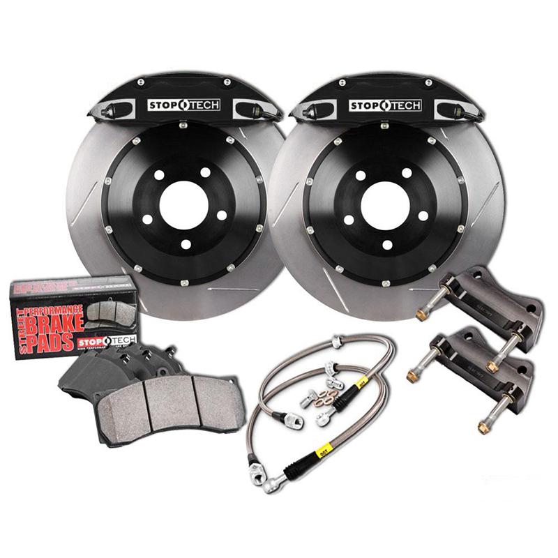 Stoptech ST-60 Big Brake Kit Front 355mm Black Slotted Rotors Subaru STI 2005-2014