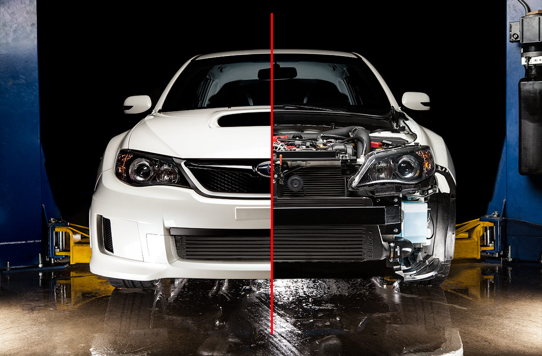 Subaru Of Plano >> COBB Tuning - Subaru Front Mount Intercooler Core Black STI / WRX 2011-2014