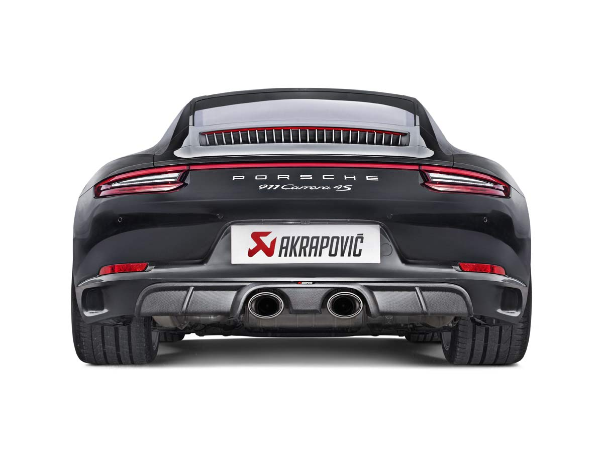 Porsche Akrapovic Slip-On Line (Titanium) Exhaust Tips 911 991.2 Carrera / S / GTS 2017-2018