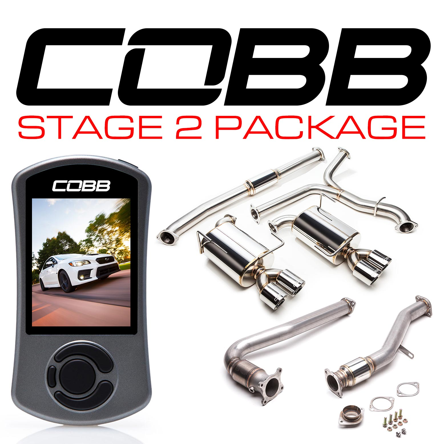 Subaru Stage 2 Power Package (Resonated J-Pipe) WRX 6MT 2015-2020