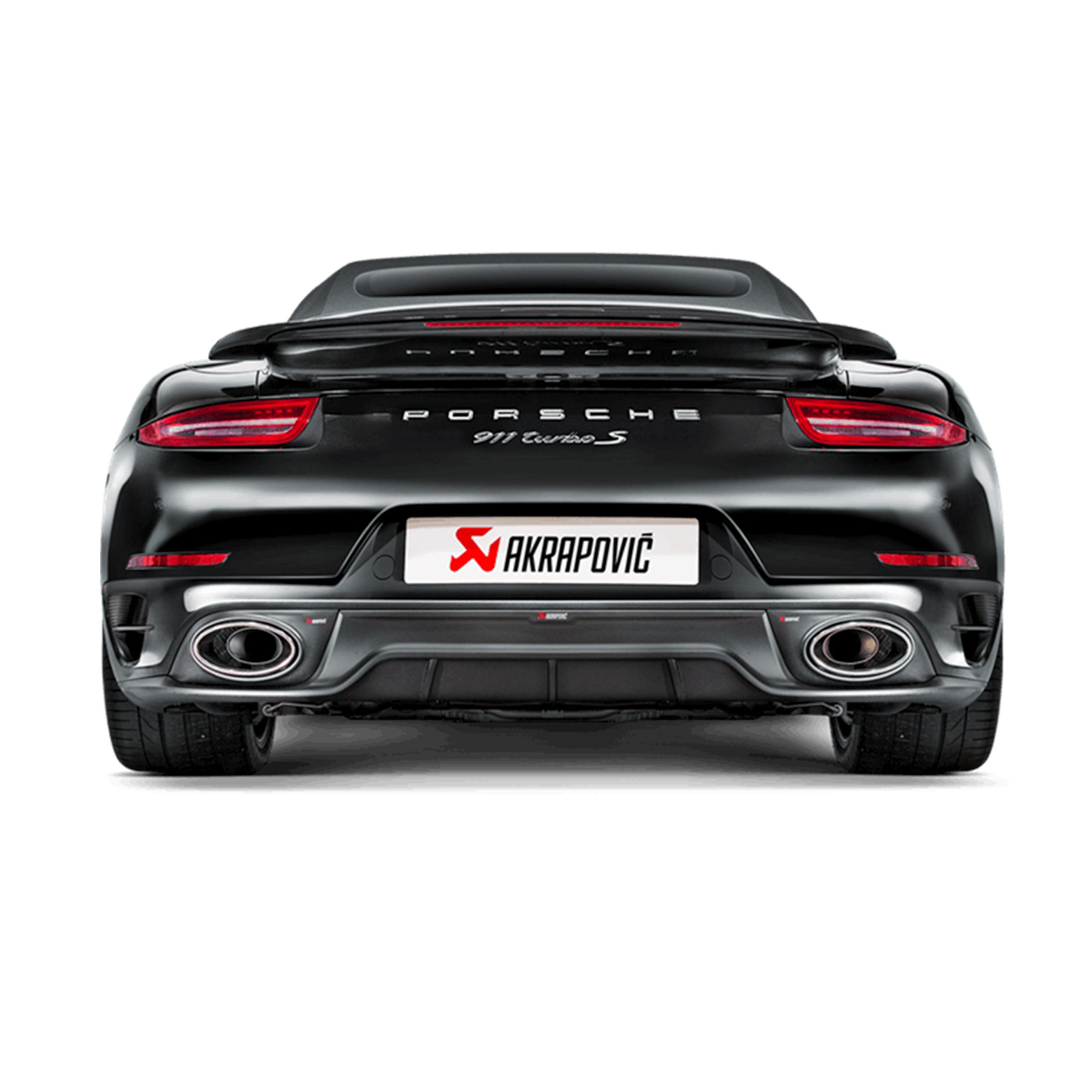 Porsche Akrapovic Slip-On Line (Titanium) Exhaust with Carbon / Titanium Tips 911 (991.1) Turbo / Turbo S