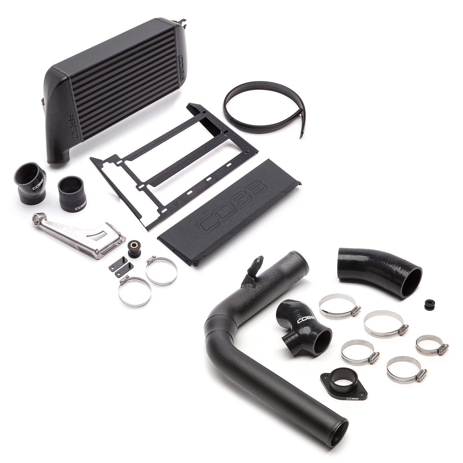 Subaru Top Mount Intercooler Kit Black WRX 2015-2020