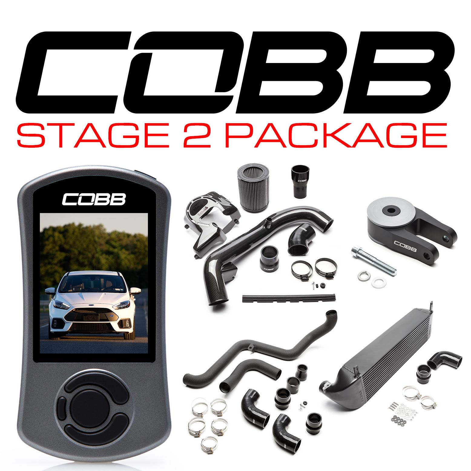 Ford Stage 2 Power Package Black Focus RS 2016-2018
