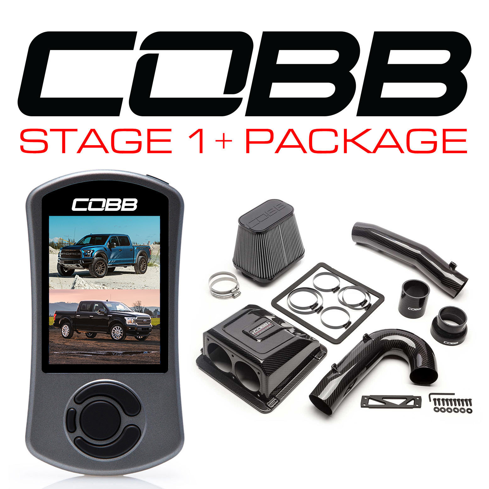 Ford Stage 1+ Redline Carbon Fiber Power Package F-150 Raptor 2017-2020