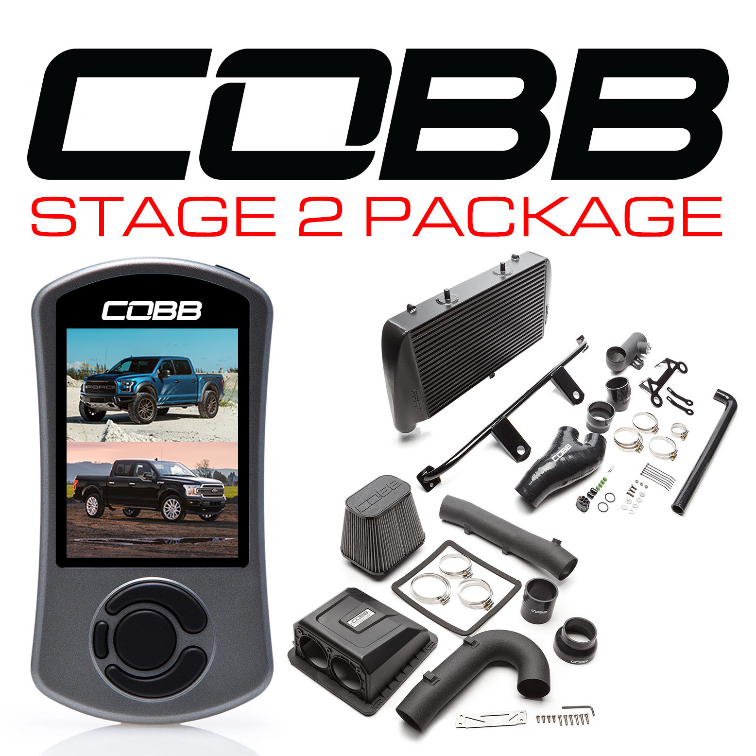 Ford Stage 2 Power Package Black with TCM F-150 Ecoboost Raptor / Limited