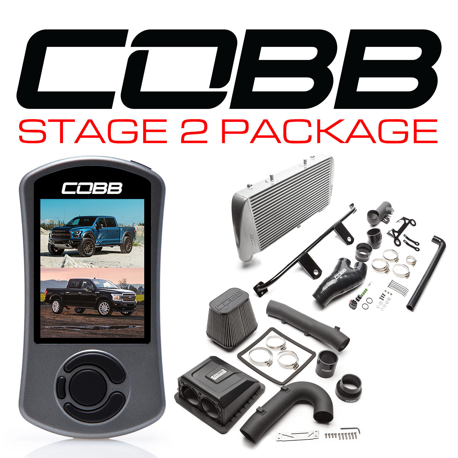 Ford Stage 2 Power Package Silver F-150 Raptor 2017-2020