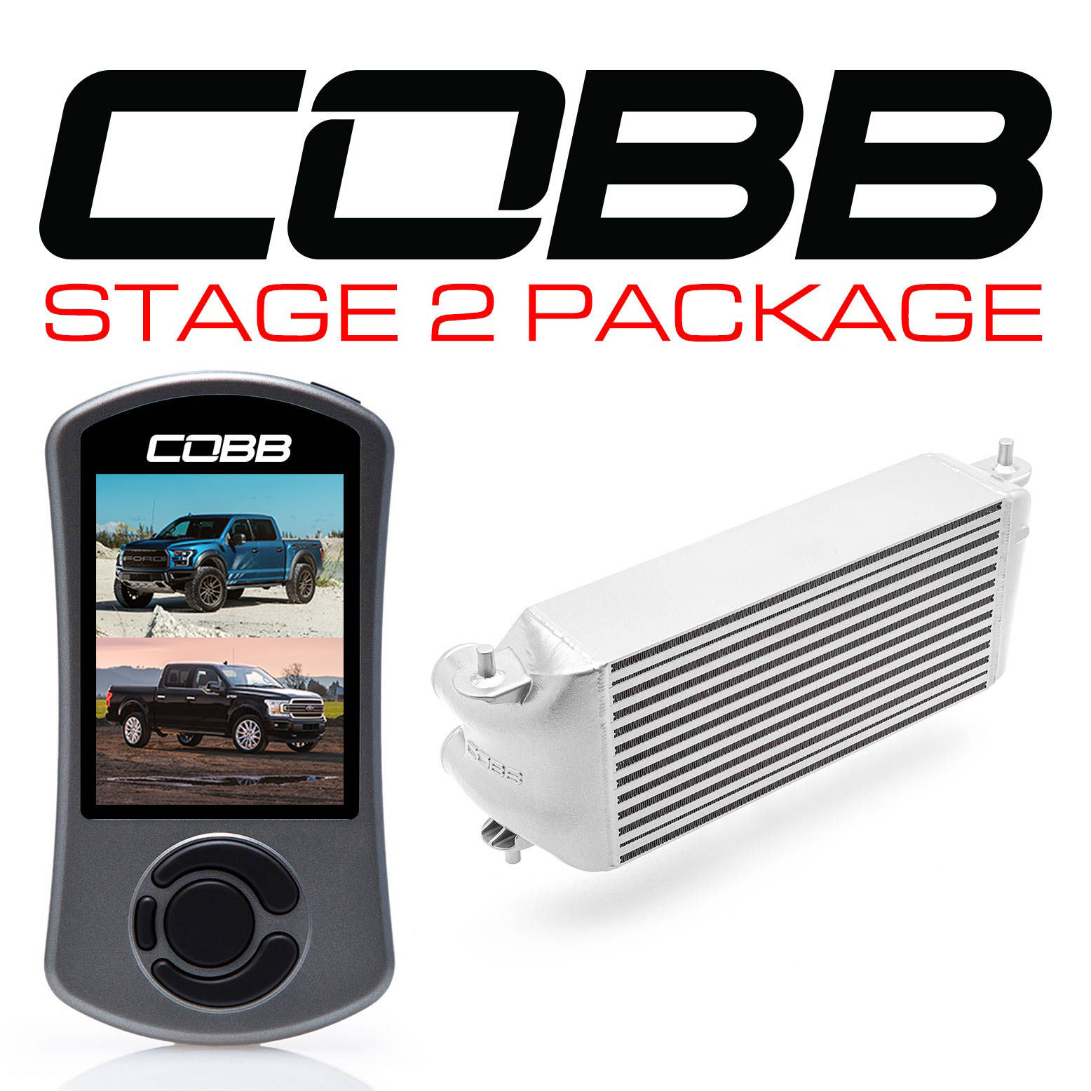Ford Stage 2 Power Package Silver (Factory Location Intercooler, No Intake) with TCM F-150 Ecoboost Raptor / Limited