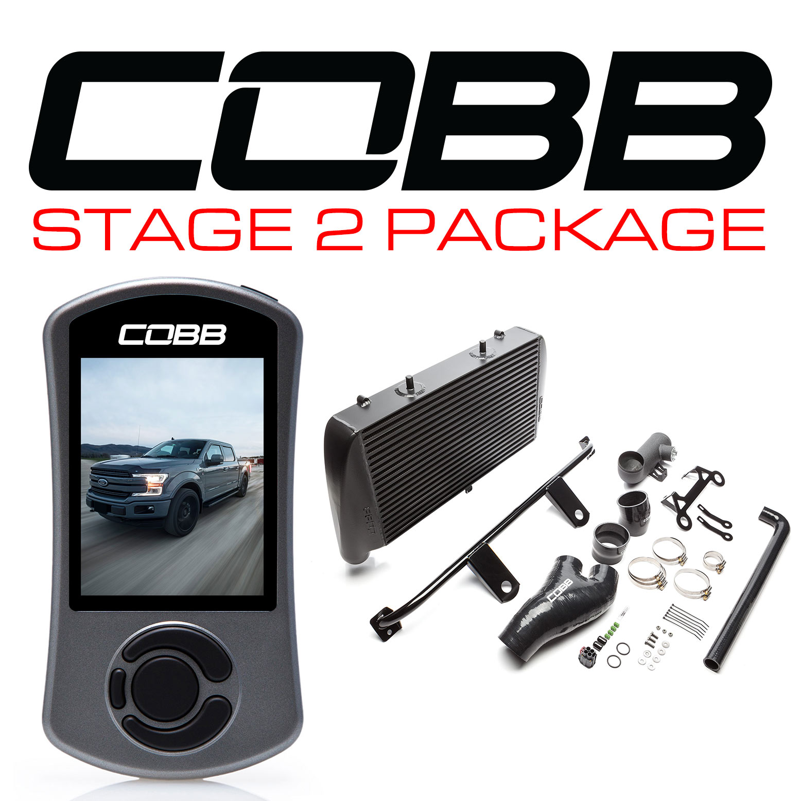 Ford Stage 2 Power Package Black (No Intake) with TCM F-150 Ecoboost 3.5L 2017-2019