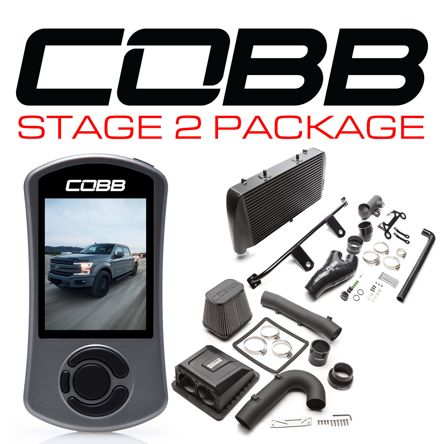 Ford Stage 2 Power Package Black F-150 Ecoboost 3.5L 2017-2019