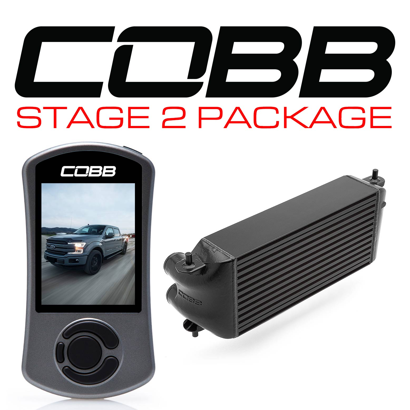 Ford Stage 2 Power Package Black (Factory Location Intercooler, No Intake) with TCM F-150 Ecoboost 3.5L 2017-2019