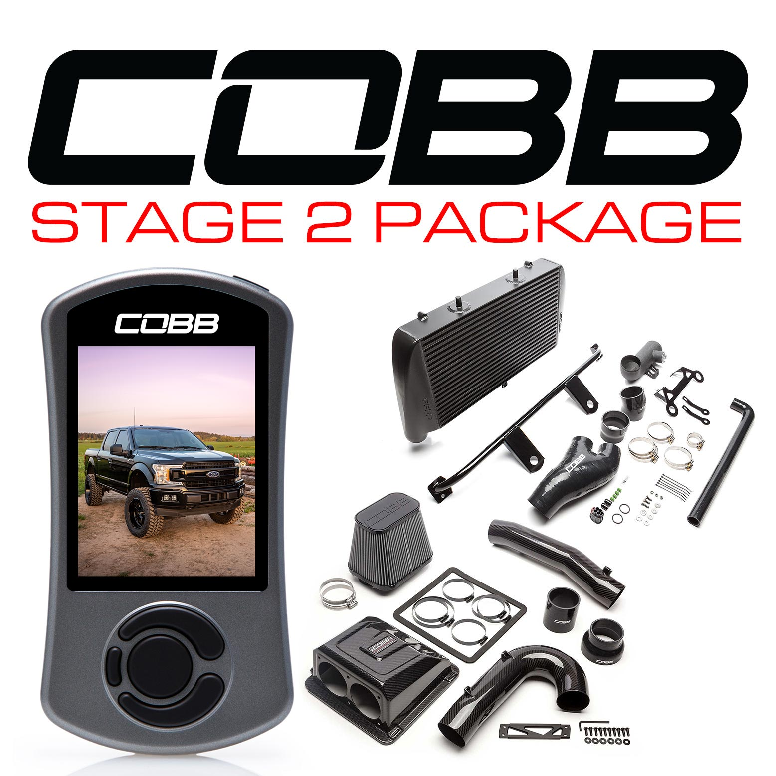 Ford Stage 2 Redline Carbon Fiber Power Package Black F-150 Ecoboost 3.5L 2020