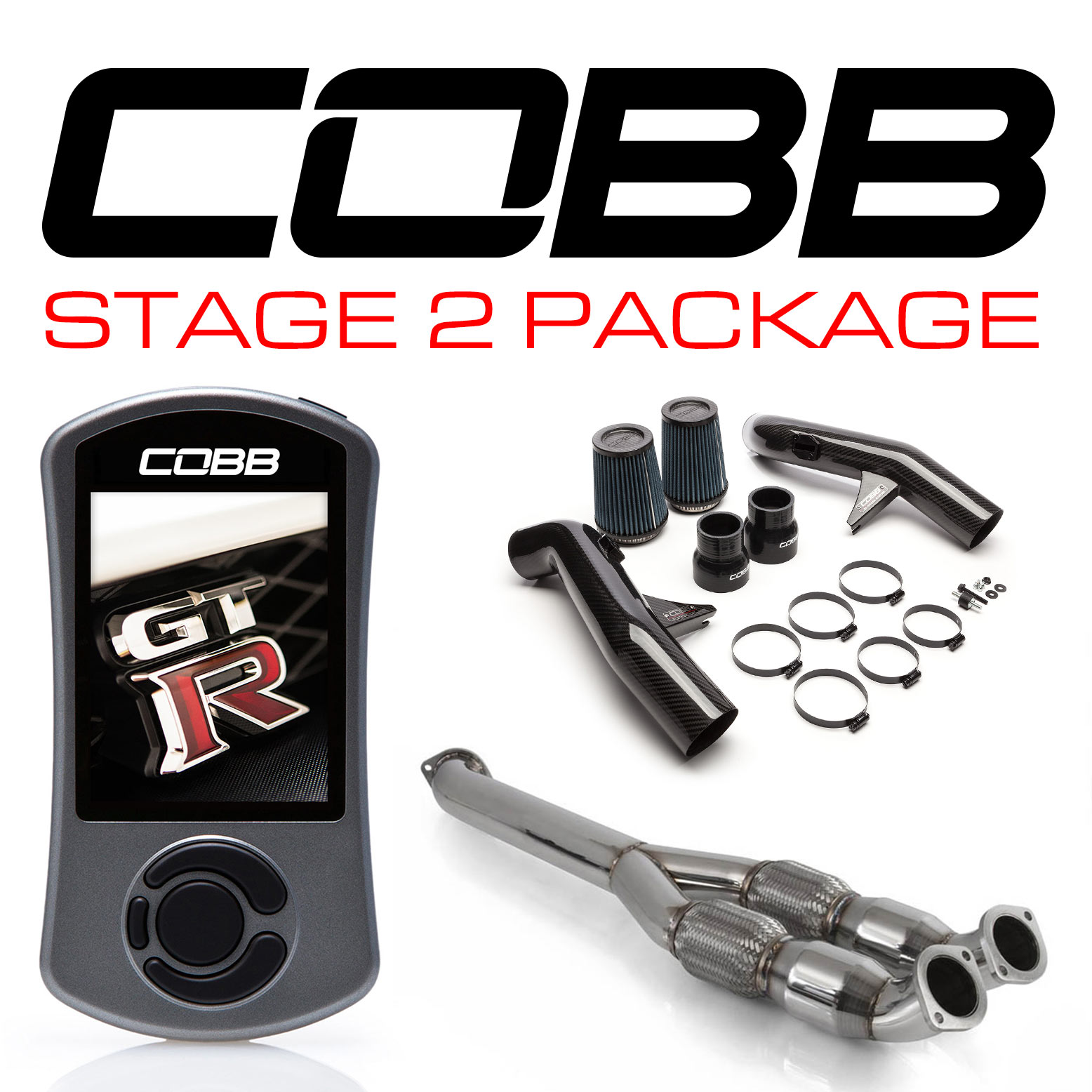 Nissan GT-R Stage 2 Carbon Fiber Power Package NIS-008 with TCM Flashing