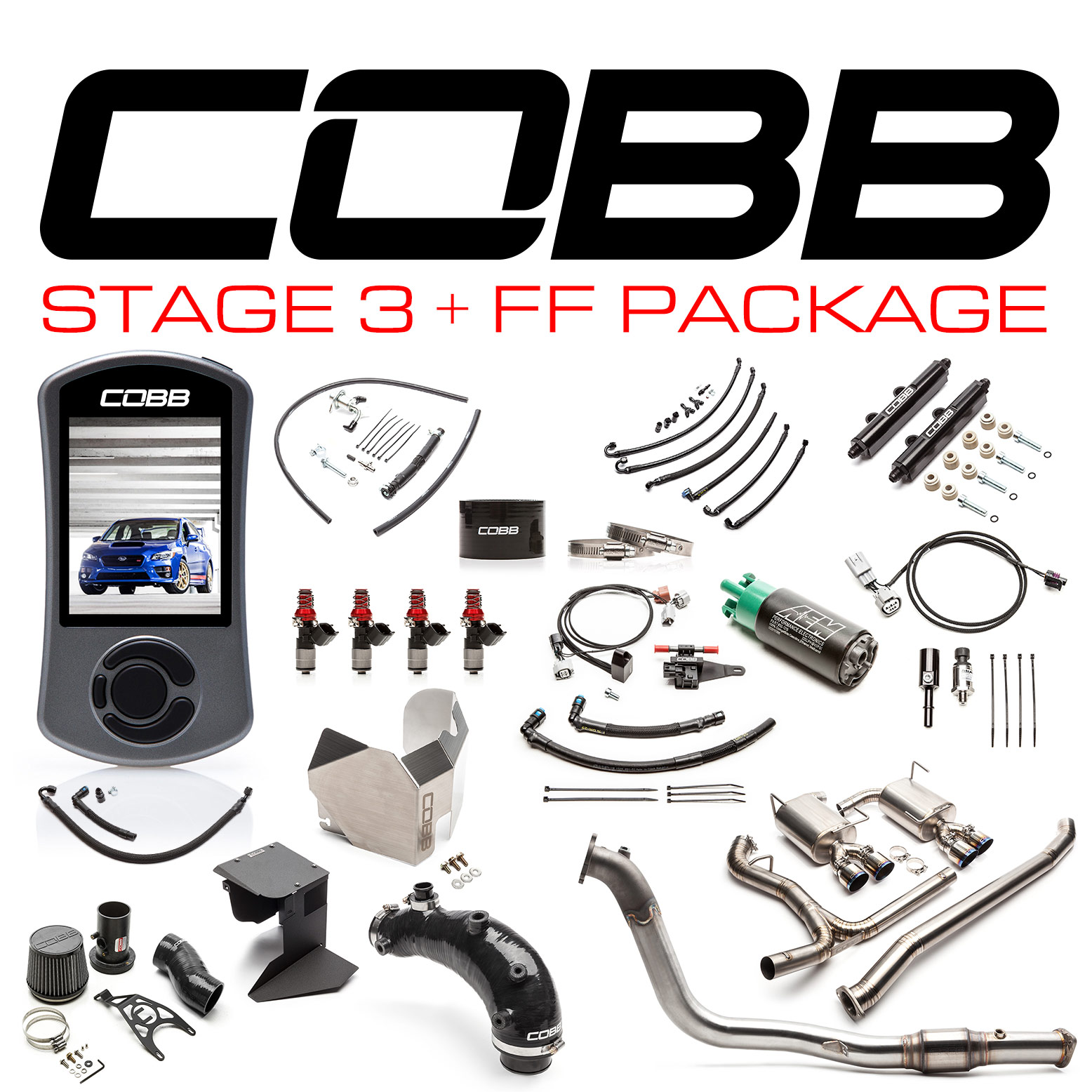 Subaru Stage 3 + Flex Fuel Power Package Titanium STI 2015-2018
