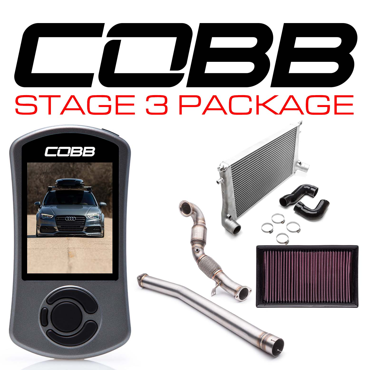 Audi Stage 3 Power Package with S Tronic Flashing A3 Quattro (8V) 2015-2020