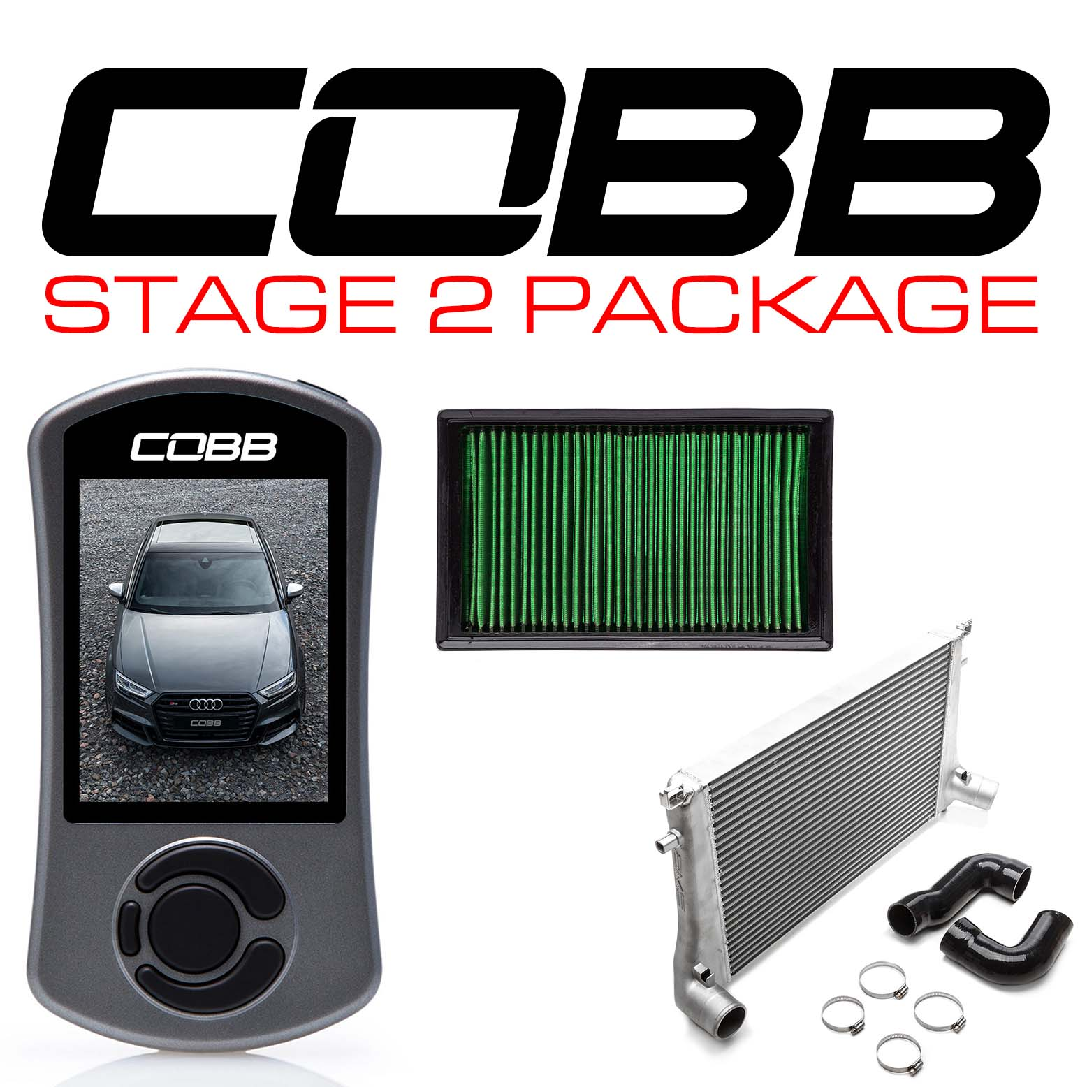 Audi Stage 2 Power Package with S Tronic Flashing S3 (8V)