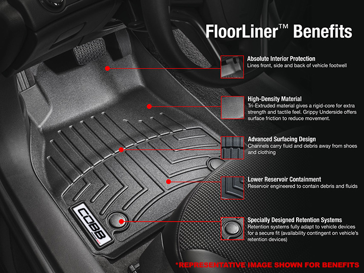 COBB x WeatherTech FloorLiner and Rear FloorLiner Set Subaru FXT 2009-2013