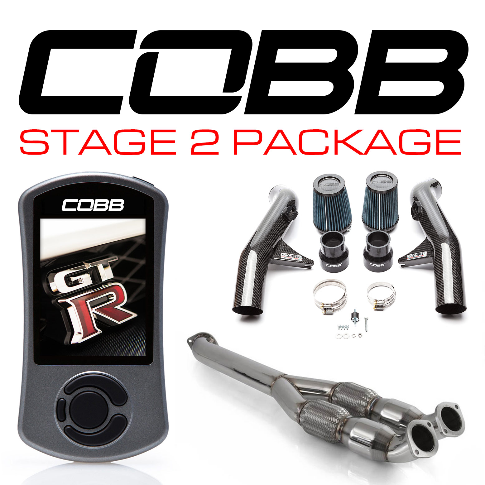 Nissan GT-R Stage 2 Carbon Fiber Power Package NIS-006 with TCM Flashing