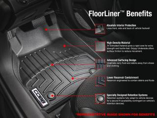 COBB x WeatherTech Rear FloorLiner Ford Focus ST 2013-2018, Focus RS 2016-2018