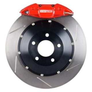 Stoptech ST-22 Big Brake Kit Rear 345mm Red Slotted Rotors Subaru STI 2005-2014