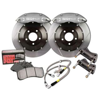 Stoptech ST-60 Big Brake Kit Front 355mm Silver Slotted Rotors Subaru STI 2005-2014