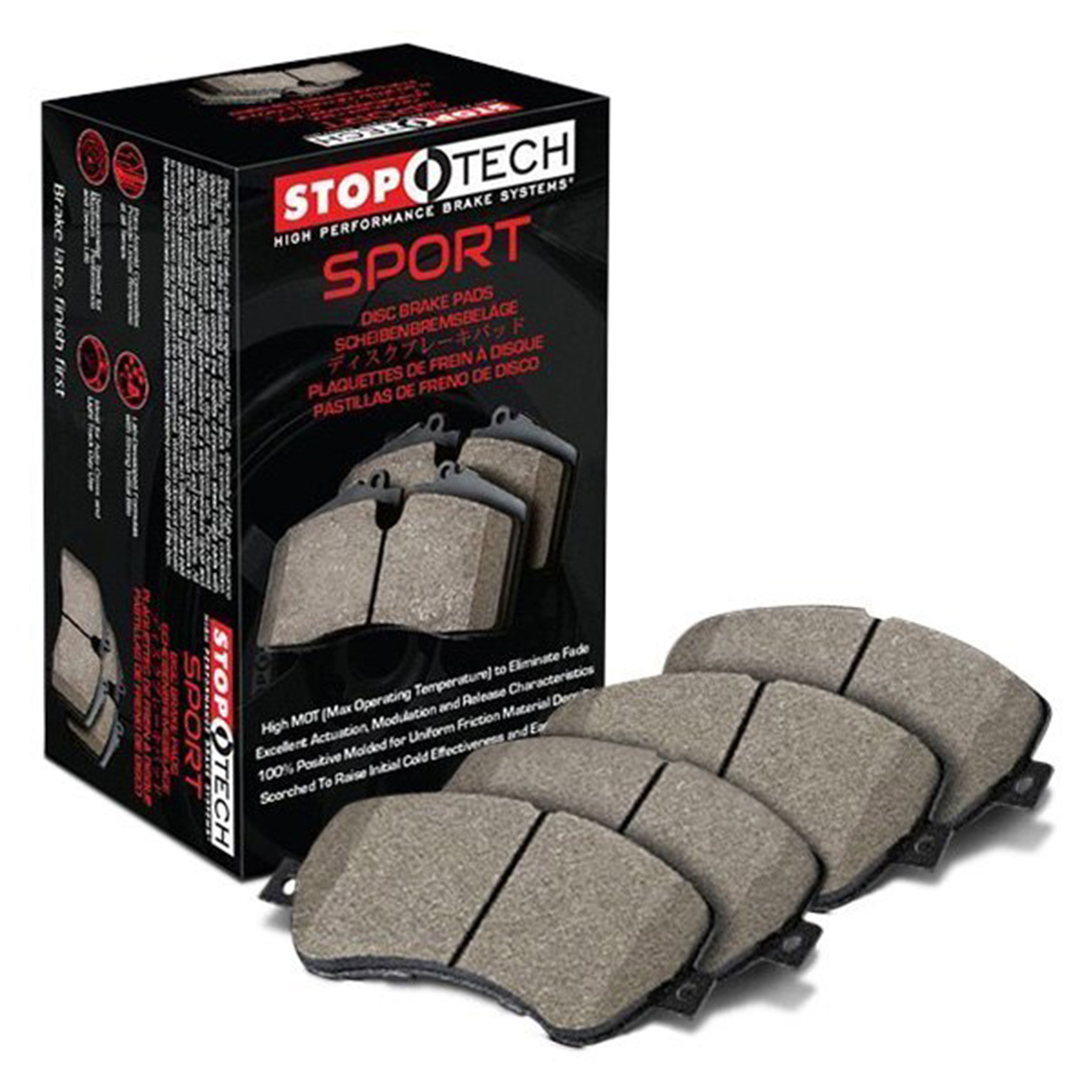 Stoptech Street Performance Rear Brake Pads Subaru STI 08-14