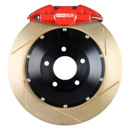 Stoptech ST-22 Big Brake Kit Rear 345mm Red Zinc Slotted Rotors Subaru STI 2005-2014