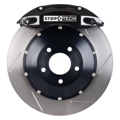 Stoptech ST-40 Big Brake Kit Front 355mm Black Slotted Rotors Subaru STI 2005-2014