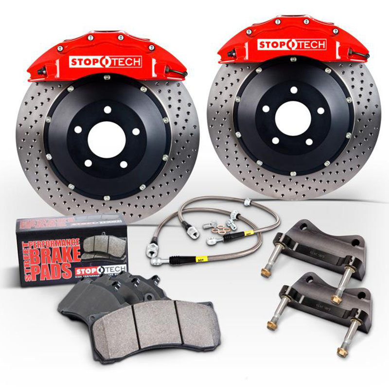Stoptech ST-60 Big Brake Kit Front 355mm Red Drilled Rotors Subaru STI 2005-2014